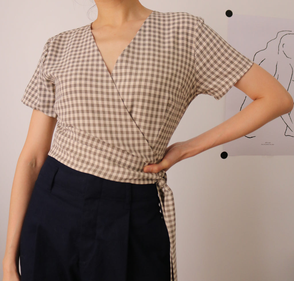 Foster Wrap Blouse-sold out