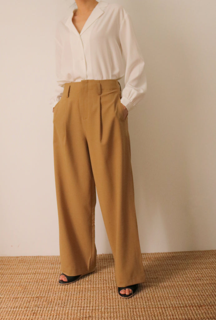 Ines maxi culottes (made with tropical wool, more colours available.)