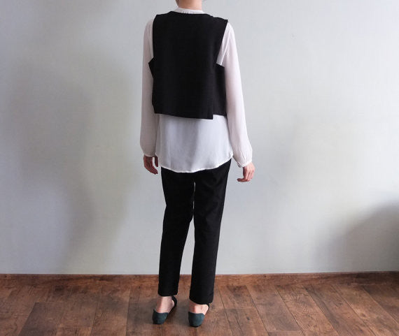 Lexington waistcoat {Black}-sold out