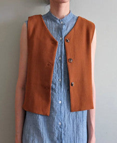 Lexington waistcoat {camel}-sold out