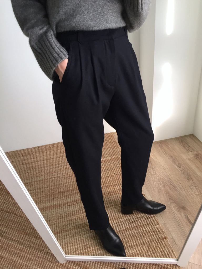 Mei wool trousers-more colours available