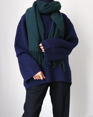Lambswool scarf -Evergreen {more colours available}
