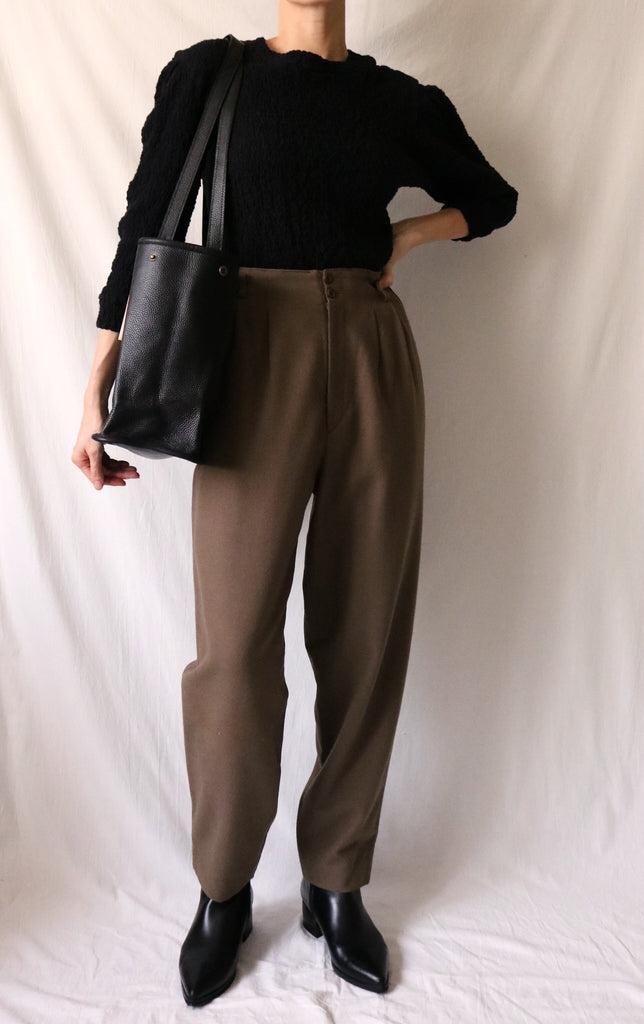 Billie wool trousers {Japanese vintage}