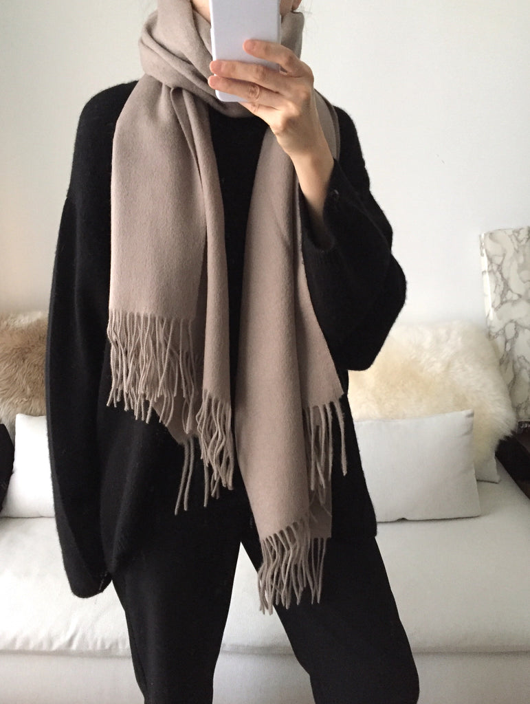 Lambswool scarf -Taupe {more colours available}