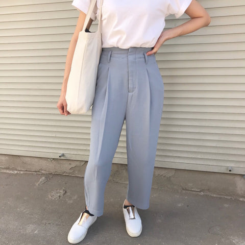 Mai Culottes (dove blue, made-to-order)