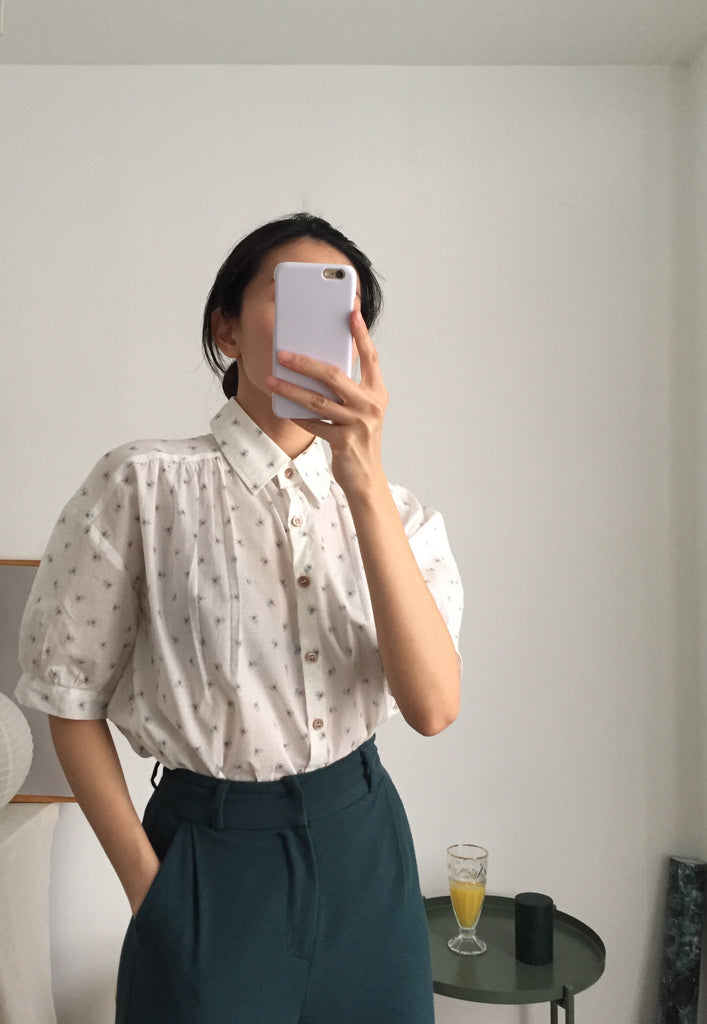 Chamomile Blouse-blue {limited edition}