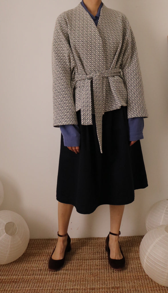 Lykke kimono wrap jacket { Limited Edition , French-made woven fabric }