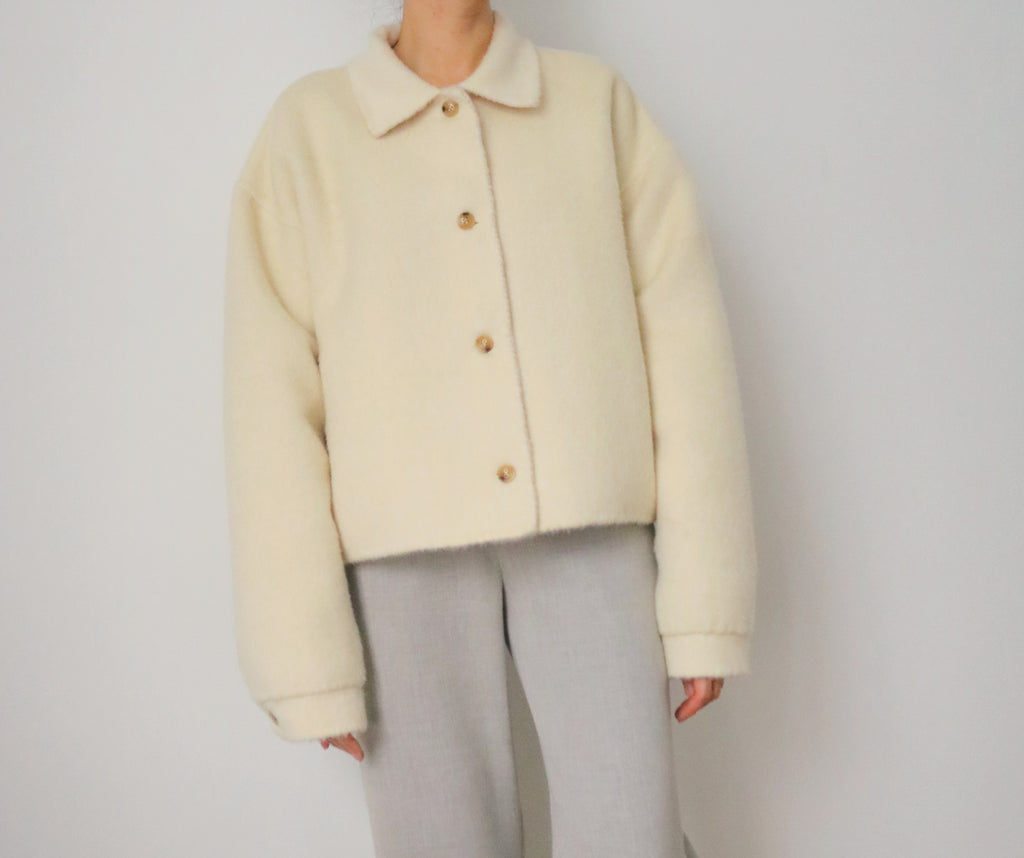 Lea Aviator Jacket (reversible, made with 60% alpaca)