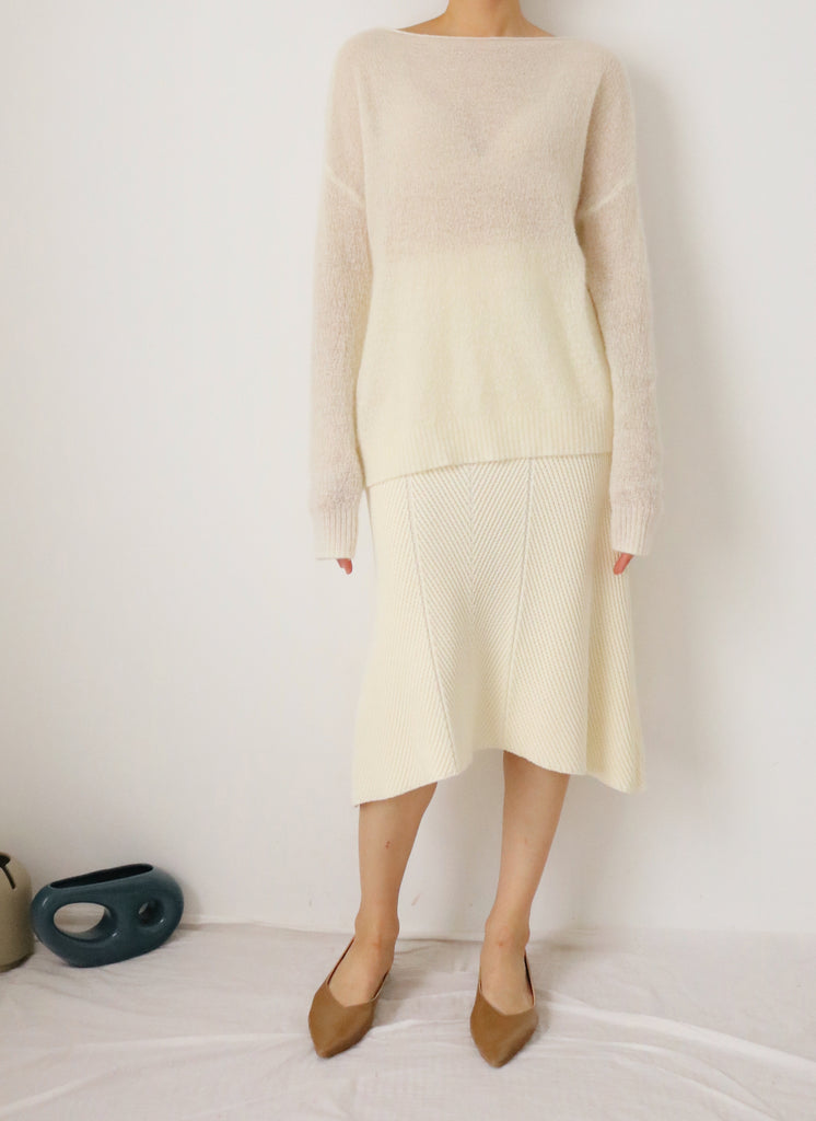 Lys Sweater (made with mohair & alpaca blend)