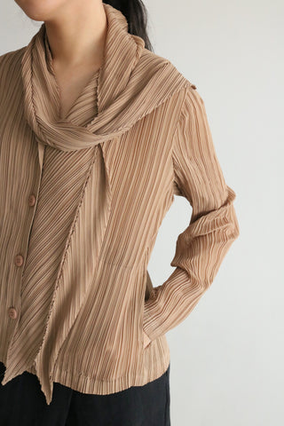 Pleated blouse (vintage, minor defect )-sold out