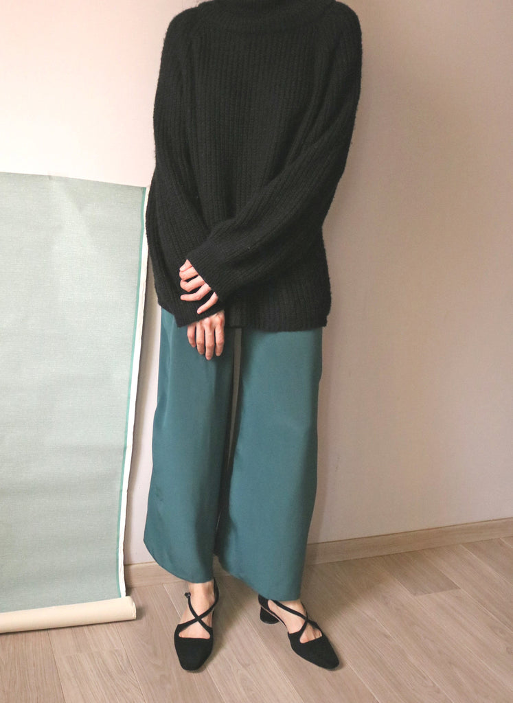 Teal culottes -100% silk-sold out