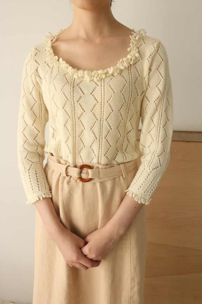 Lucinda sweater (Italian-made vintage,100 % wool)-sold out