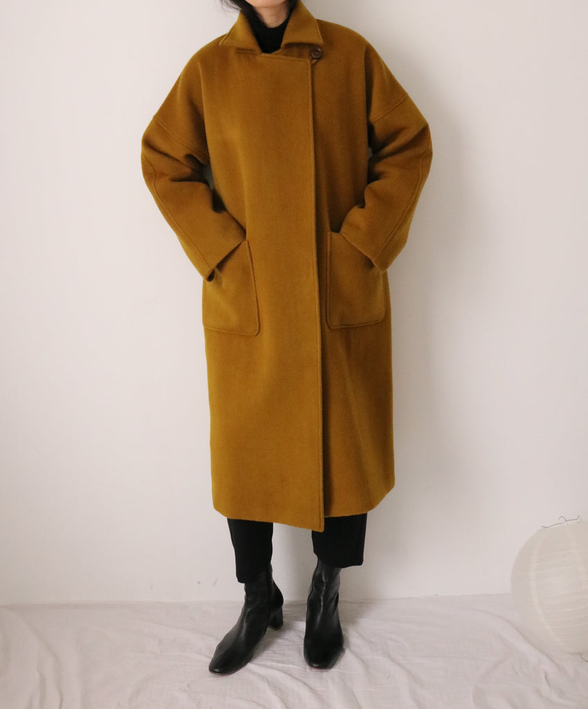 Theory coat-dark mustard
