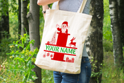 Personalised Christmas Initial Gift Bag / Tote Bag - I