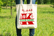 Personalised Christmas Initial Gift Bag / Tote Bag - K