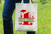 Personalised Christmas Initial Gift Bag / Tote Bag - L