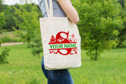 Personalised Christmas Initial Gift Bag / Tote Bag - S