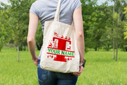 Personalised Christmas Initial Gift Bag / Tote Bag - T