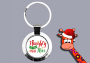 Naughty Is The New Nice - Keyring