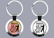 Zombies Eat Brains - You Are Safe - Keyring