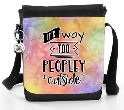 It's Way Too Peopley Outside - Reporter Bag