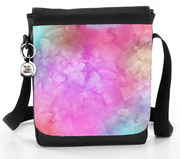 Purple And Pink Watercolour Mix - Reporter Bag