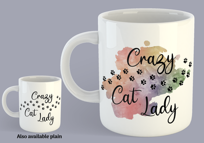 Crazy Cat Lady Paw Prints - Mug