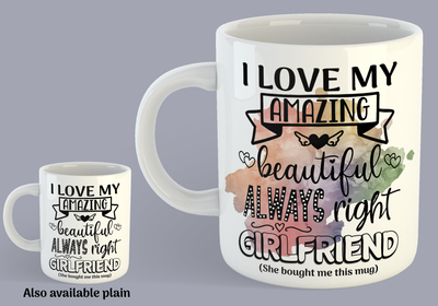 I Love My Amazing, Beautiful, Always Right Girlfriend - Mug