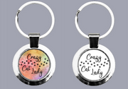 Crazy Cat Lady Paw Prints - Keyring