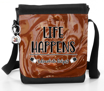 Life Happens Chocolate Helps - Reporter Bag