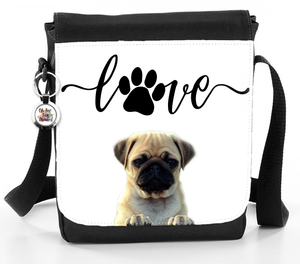 Love Pug Dog Heartline - Reporter Bag
