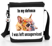In My Defence I Was Left Unsupervised - Dog - Reporter Bag