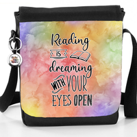 Reading Is Dreaming With Your Eyes Open - Reporter Bag