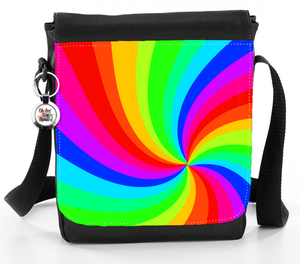 Rainbow Swirl Sunburst Pattern Bag - Reporter Bag
