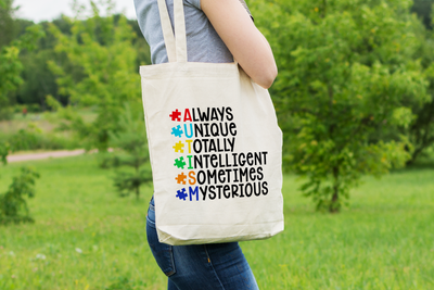 Autism Awareness - Always Unique - Tote Bag