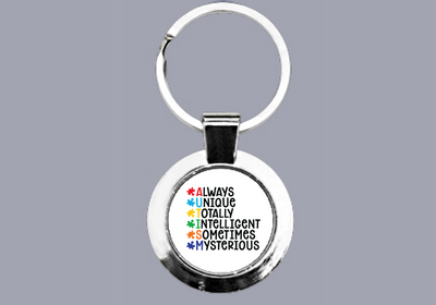 Autism Awareness - Always Unique - Keyring