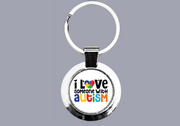 Autism Awareness - I Love Someone With Autism - Keyring