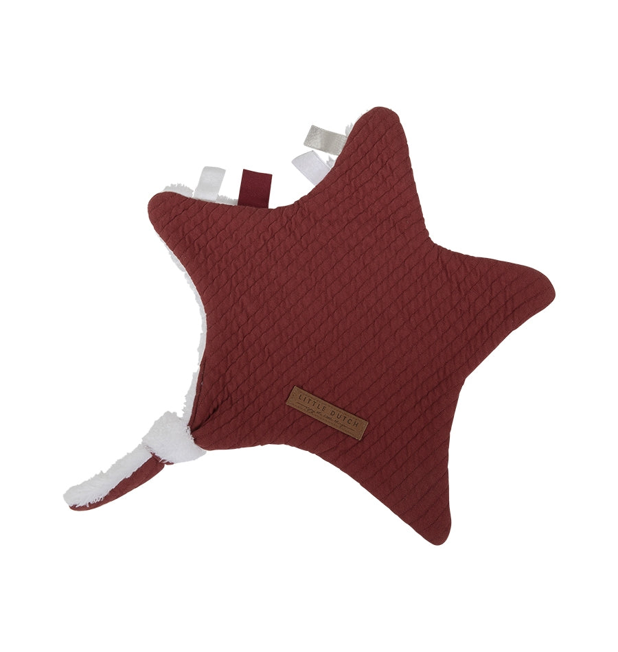 Little Dutch knuffeldoek Ster - Indian Red