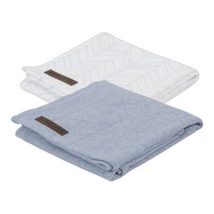 Little Dutch Swaddle Doek Blue - 2 Pack