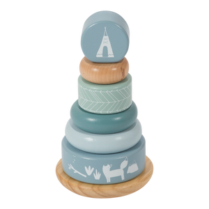 Little Dutch Tuimelring Piramide - Blue