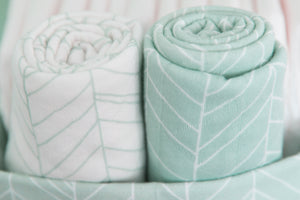 Little Dutch swaddle doek 2 Pack - Mint Leaves