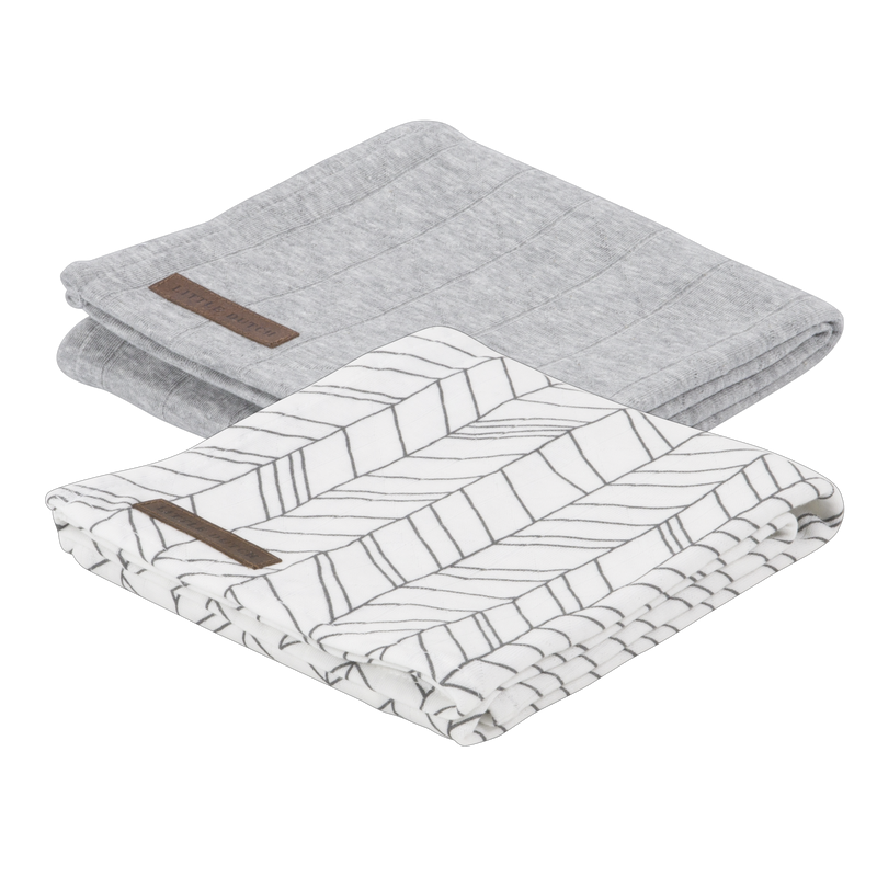 Little Dutch Swaddle Doek Grey - 2 Pack