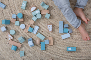 Little Dutch Houten Blokken - Blue