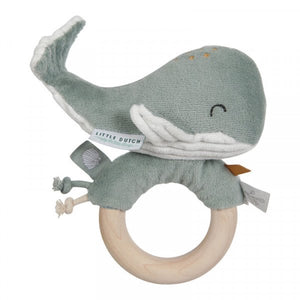 Little Dutch Rammelaar Walvis - Mint