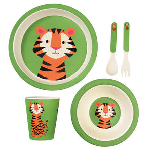 Teddy The Tiger Bamboe Eetset