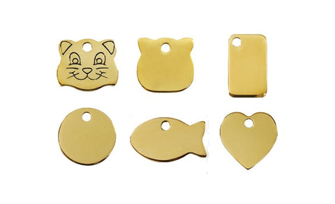 Flat Brass Pet Tags