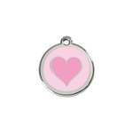 Coloured Heart Pet Tag