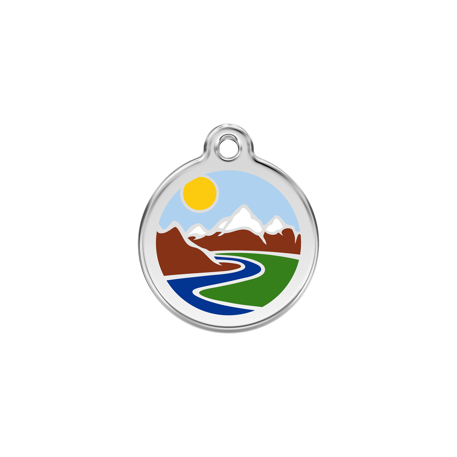 Mountains Pet Tag