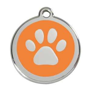 Pawprint Pet Tag