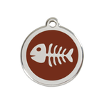 Fish Skeleton Pet Tag